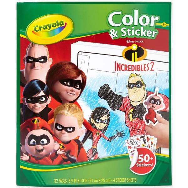 Incredibles Color & Sticker Book