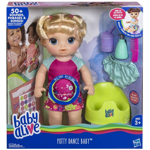 Baby Alive Potty Dance Blonde Baby