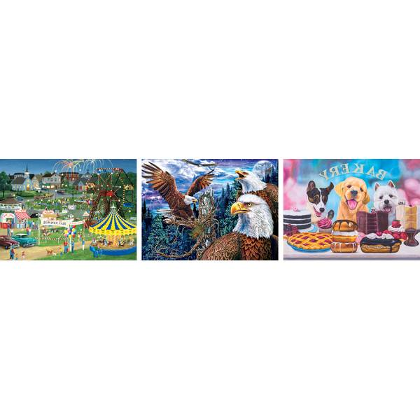500-Piece Assorted Collector Art Puzzles