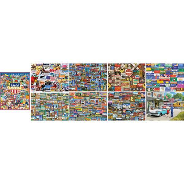 1000-Piece Roadside America Puzzle Assortment