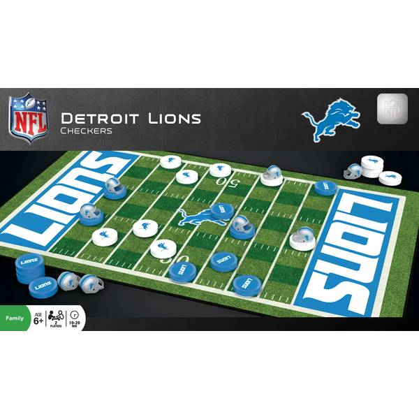 Detroit Lions Checkers Game