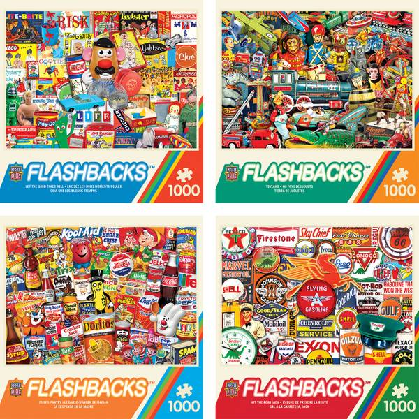 1000-Piece Flashbacks Puzzle Assortment