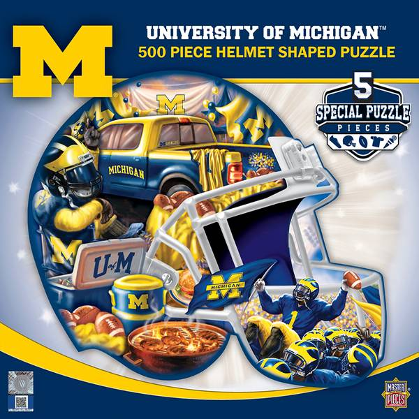 500-Piece Michigan Helmet Puzzle