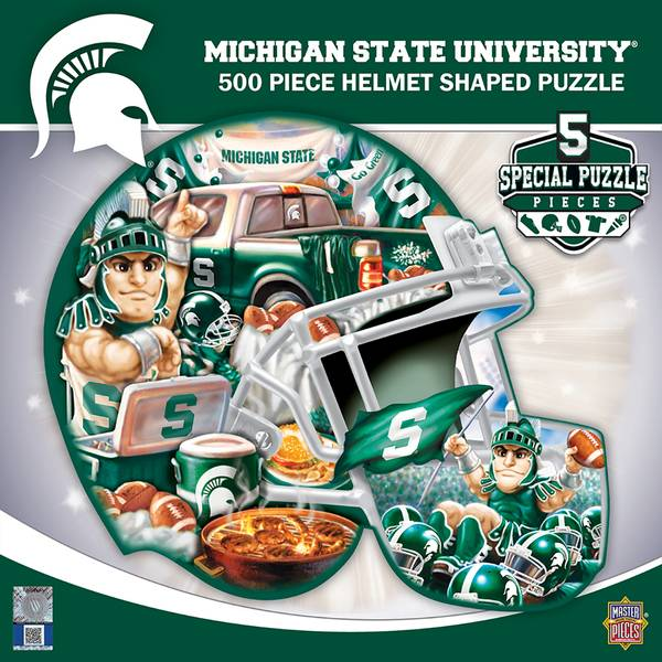 500-Piece Michigan State Helmet Puzzle