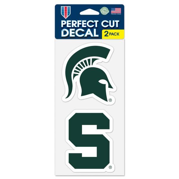 Michigan State Spartans 2-Piece Die Cut Decals