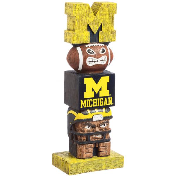 University of Michigan Wolverines Tiki Tiki Totem