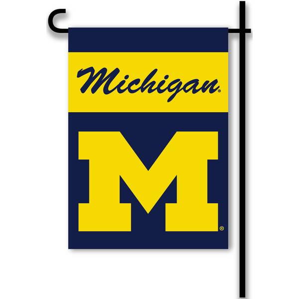 University of Michigan Wolverines Garden Flag
