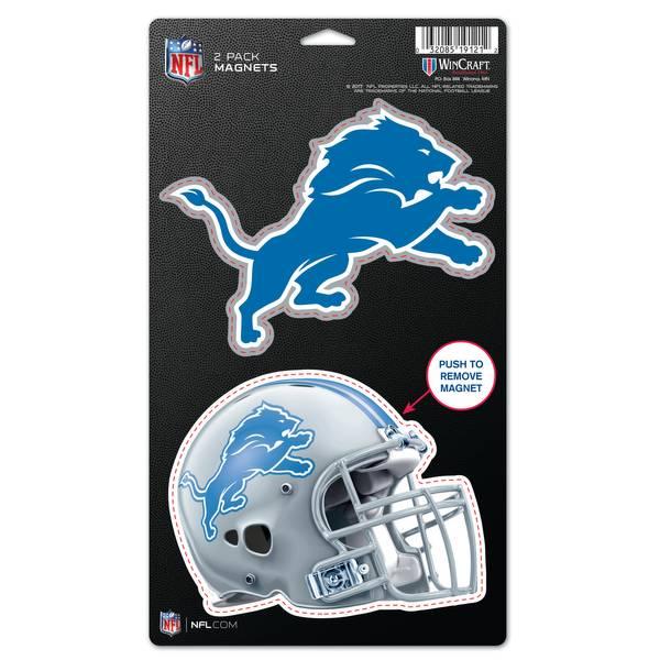 Detroit Lions 2-Pack Die Cut Magnets