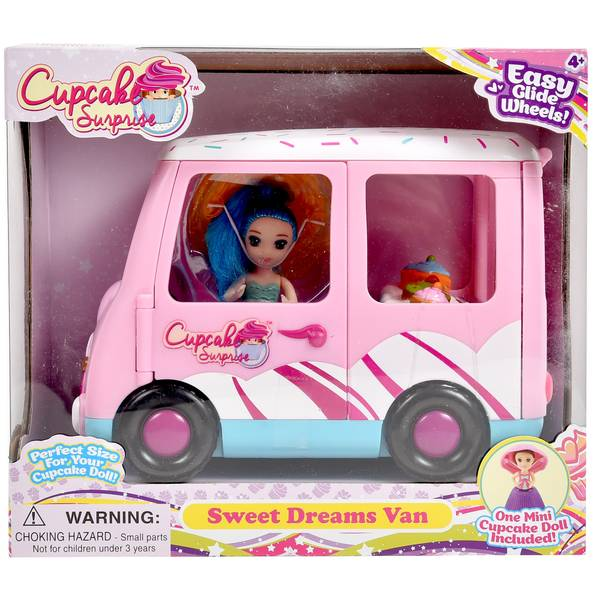 Mini Cup Cake Surprise Doll Van Playset