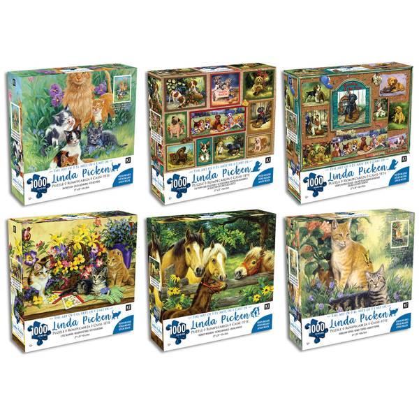 1000-Piece Linda Picken Puzzles Assortment