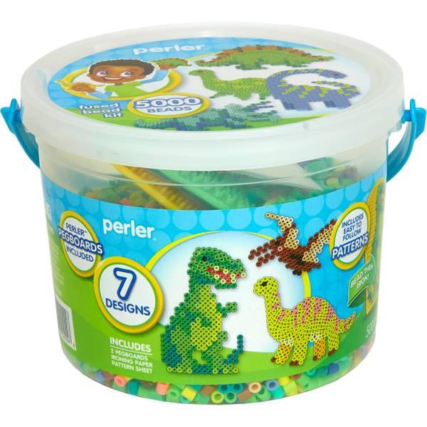 5000-Piece Dinosaur Bead Bucket