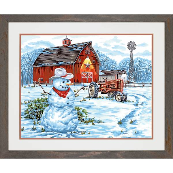 "14"" x 20"" Country Snowman Kit"