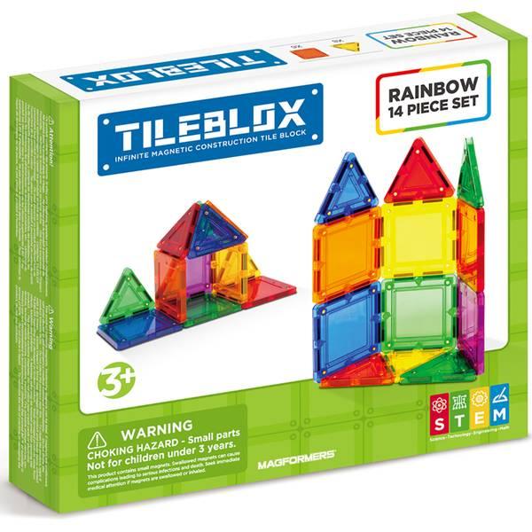 14-Piece Tile Blox Rainbow Set