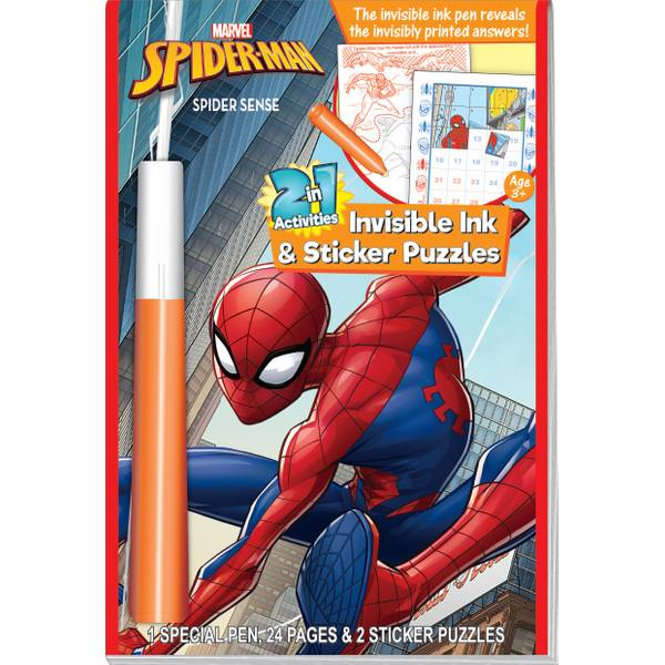 Spiderman Invisible Ink Book