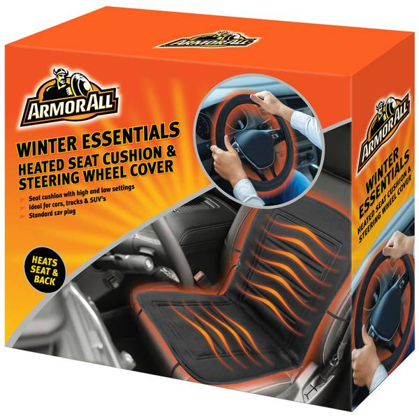 Heated Front Seats And Steering Wheel: Armor All Heated Seat Cushion & Steering Wheel Cover