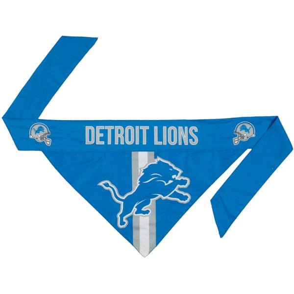 Detriot Lions Pet Bandana Small