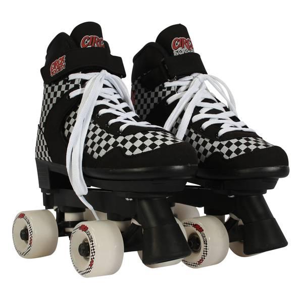 Street Checkered Roller Skates