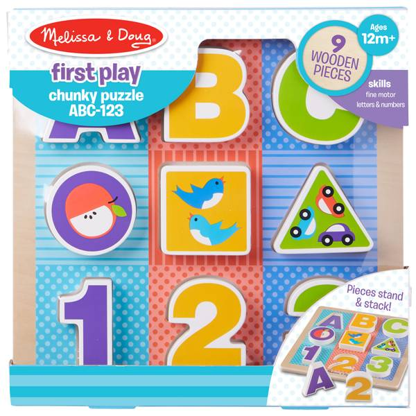 First Play ABC, 123 Chunky Puzzle
