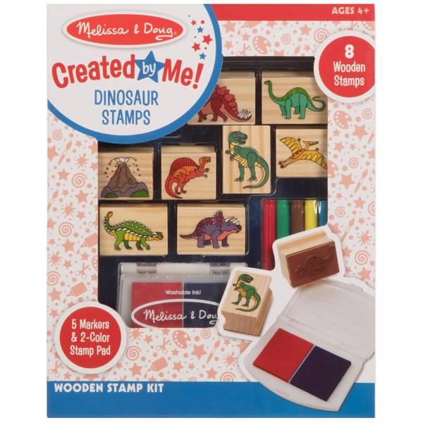 Wooden Dinosaur Stamp Set