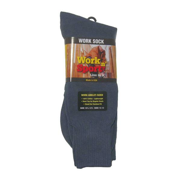 Men's Gray Cotton Anklet Socks