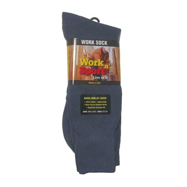 Men's Gray Cotton Anklet Socks