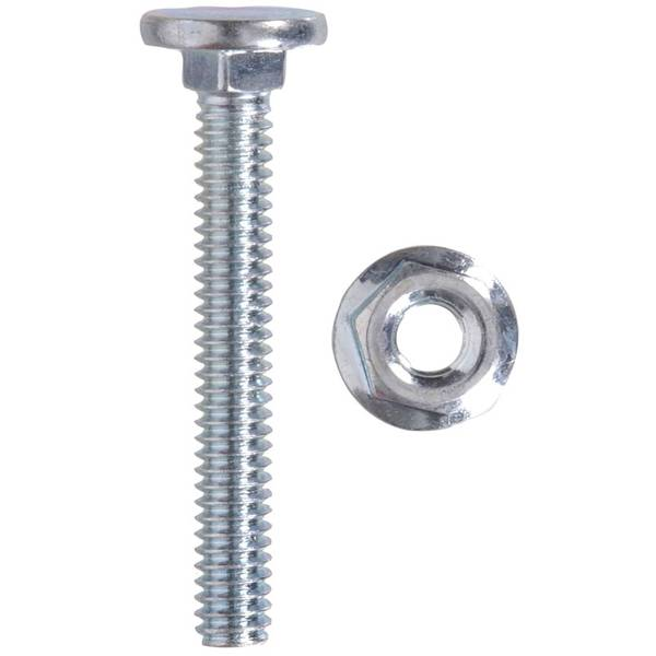 Flat Head Carriage Bolt and Nut