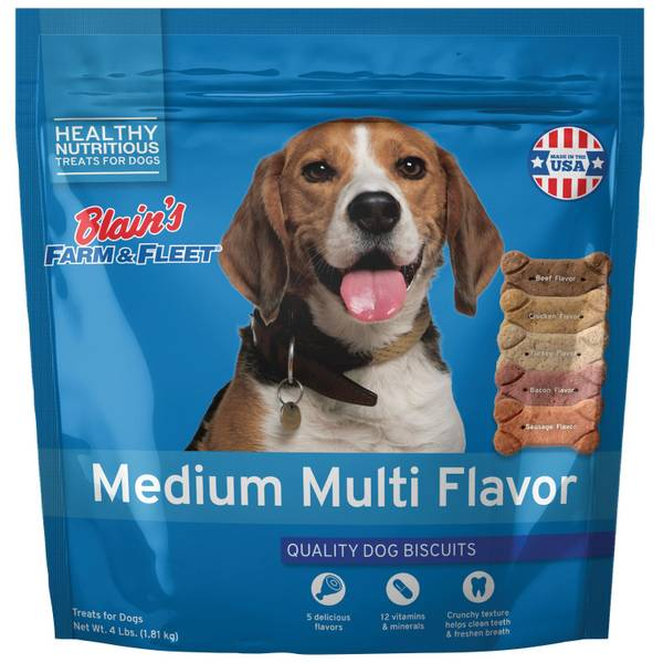 Medium Multiflavored Dog Biscuits