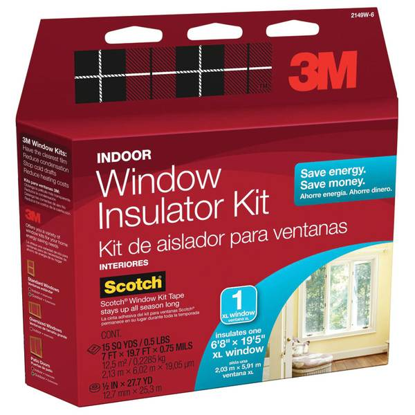Oversized Indoor Window Insulator Kit
