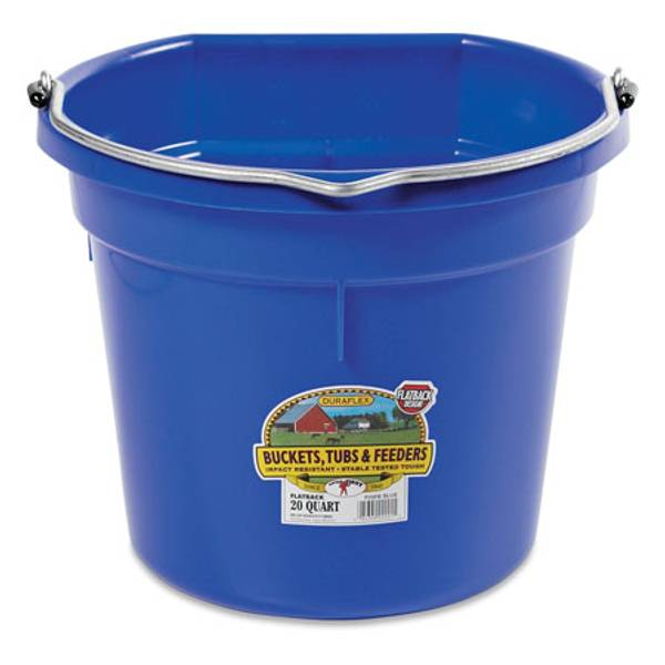 20 Quart DuraFlex Flat Back Plastic Bucket