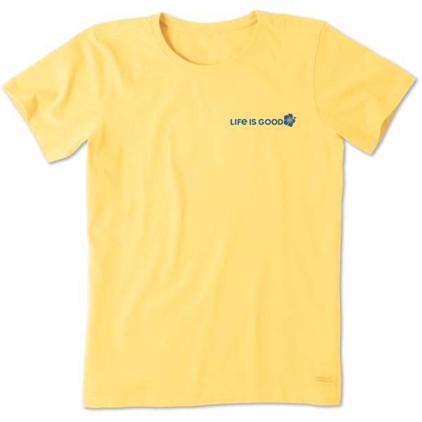 Misses' Short Sleeve Hibiscus Sun Crusher Crew Neck