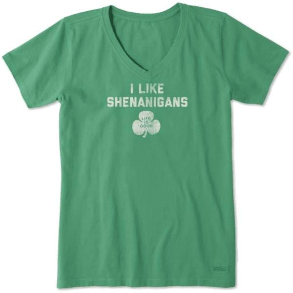 Women's Short Sleeve Crusher Vee I Like Shenanigans