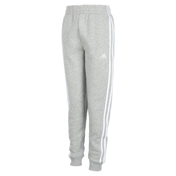 a3b9a617b9 Adidas Youth Cotton Fleece Jogger Heather Grey