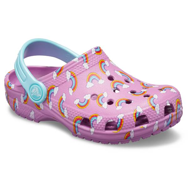 934f21a0bc422 Crocs Girl s Purple Classic Graphic Clogs