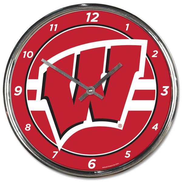 Wisconsin Chrome Clock