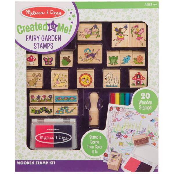 Wooden Fairy Scene Stamp Set