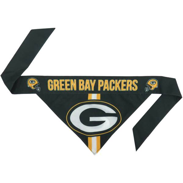 Green Bay Packers Dog Bandana No-Tie Design