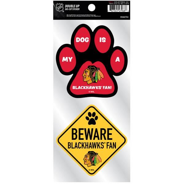 Blackhawks Pet Double Up Stickers