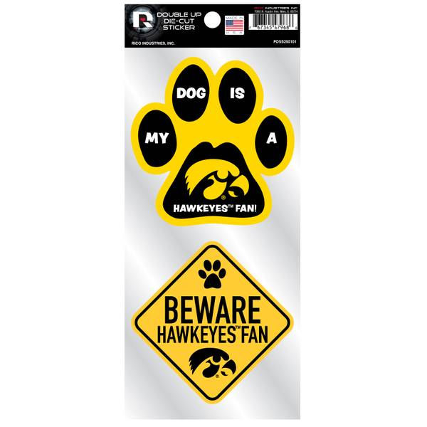 Iowa Hawkeyes Pet Double Up Stickers