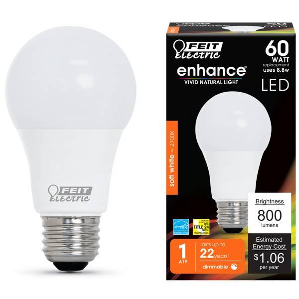 8.8W/60W Dim LED A19 Bulb 2700K Medium