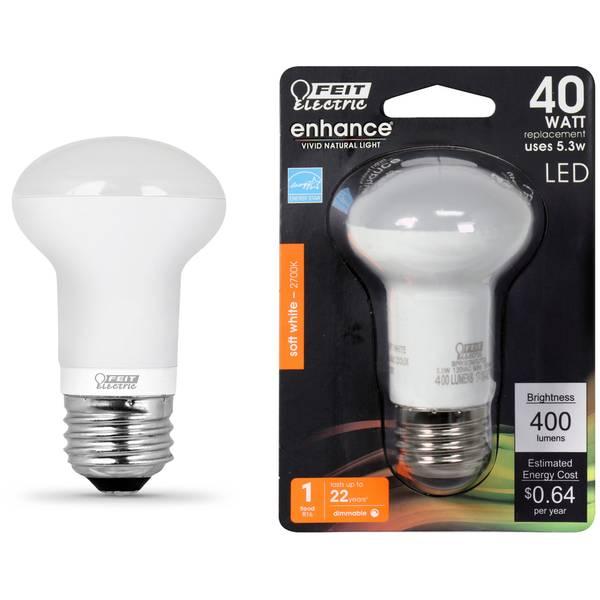 5.3W/40W Dim LED R16 Bulb 2700K Medium