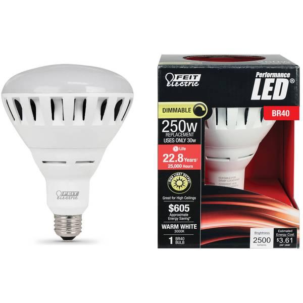 30W/250W Dim LED BR40 Bulb 3000K Medium