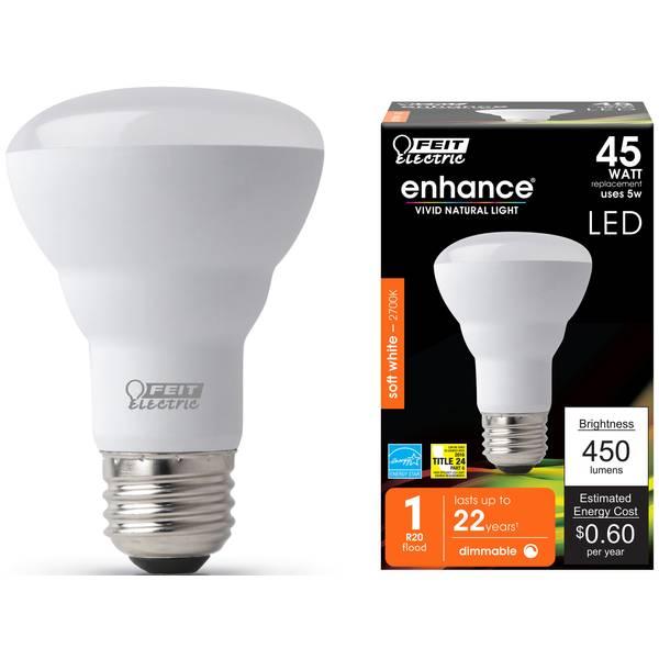 5W/45W Dim LED R20 Bulb 2700K Medium