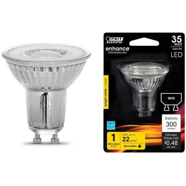 4W/35W Dim LED MR16 Bulb 3000K GU10