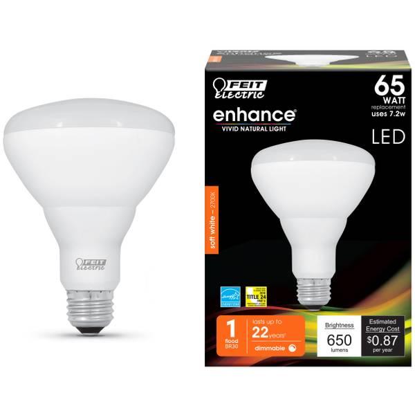 7.2W/65W Dim LED BR30 Bulb 2700K Medium