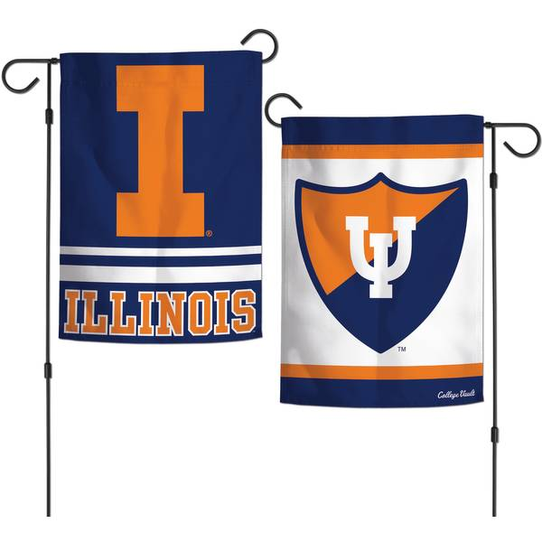 University of Illinois Fighting Illini 2 Sided Garden Flag