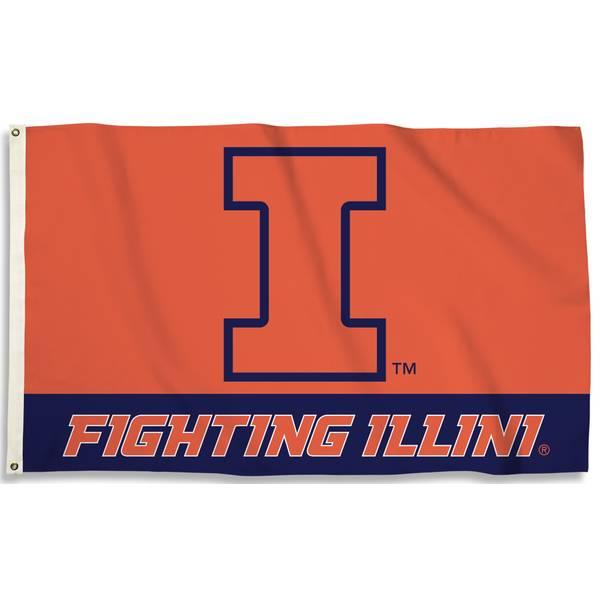 University of Illinois Fighting Illini 3x5 Flag