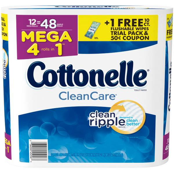 12-Pack Clean Care Mega Roll