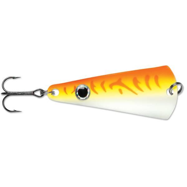 VMC Pro Series Minnow Ice Fishing Jig 1//16 OZ Glow Green Fire UV