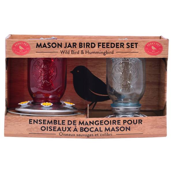 Mason Jar Duo Feeders