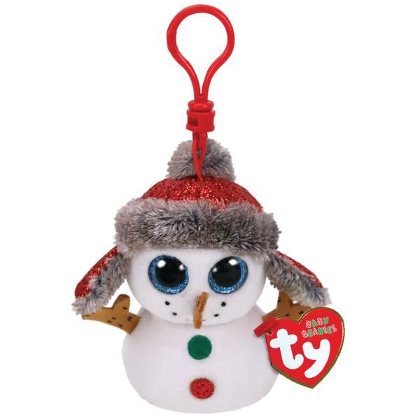 Buttons - Boo Christmas Snowman Clip